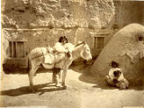"""Diego and his burro, San Juan Pueblo"", New Mexico"