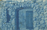 North doorway to El Alisal, Lummis home in Los Angeles, California