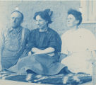 Edgar L. Hewett and two unidentified women, New Mexico
