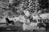 Mabel Dodge Luhan and group at camp, New Mexico