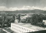 View of capitol complex from state capitol building, Santa Fe, New Mexico