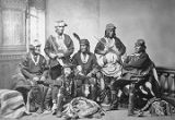 Frank Cushing and group of Zuni Indians in Boston, Massachusetts, March 23, 1882