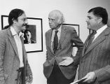 Photographers David Scheinbaum and Beaumont Newhall with Peter Bunnell, The Art Museum, Princeton...