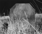 Headstone with two six-pointed stars, near the New Mexico-Texas border, from New Mexico Crypto...