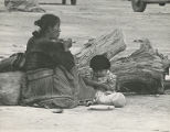 Navajo woman and baby, New Mexico