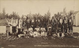 Chief Buckskin Charlie and band of Ute Indians, New Mexico (?)