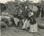 Navajo women and children at encampment, New Mexico