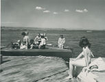 Swimmers and boaters on Conchas Lake, New Mexico