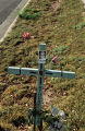 """Turquoise Cross with Picture"", Camino Carlos Rey; Santa Fe, New Mexico"