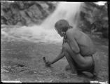 An offering at the waterfall, Nambe Pueblo, New Mexico