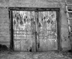 Doors painted by Florencio Chavez, Belen, New Mexico