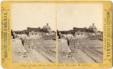 View of College Street (Old Santa Fe Trail), Saint Michael's College in background, Santa Fe, New...