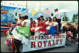 Members of Fiesta royalty on float, Espanola, New Mexico