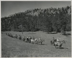 Boy Scouts training on horseback, Philmont Ranch, Cimarron,  New Mexico