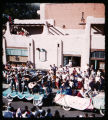 Fiesta parade in front of La Fonda, Santa Fe, New Mexico
