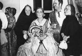 Final party at the Magoffin House, with Nina Otero Warren dressed as Dona Tules, Santa Fe, New...