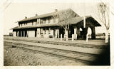 Santa Fe Railroad depot, Melrose, New Mexico