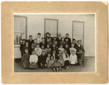 Public school teachers and students, Taiban, New Mexico