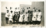 4th and 5th grade students dressed in costumes, Taiban, New Mexico