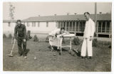 Convalescing men playing croquet, New Mexico