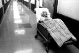 """Growing Old in America"" series, patient in hospital hallway, Albuquerque, New Mexico"