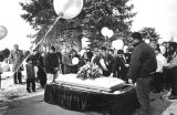 Burial ceremony, Rosario Cemetery, Santa Fe, New Mexico