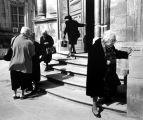 Women leaving church, Ragusa, Sicily
