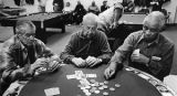 """Growing Old in America"" series, card players, Alto Senior Center, Santa Fe, New Mexico"
