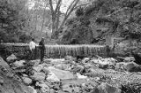 David Ortega and John Trujillo at the dam that feeds the Cimayo acequia irrigation ditch, Chimayo,...