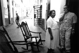 Couple with rocking chairs, Havana, Cuba