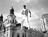 Street performer, Prague, Czechoslovakia