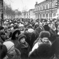 Crowds in street, Saint Petersburg, Russia