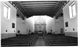 Interior of Cristo Rey Church on Canyon Road, Santa Fe, New Mexico