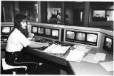 Liz Guinn, detention officer at Santa Fe County Detention Center monitoring master control, Santa...