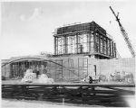 Greer Grason Theatre under construction on College of Santa Fe Campus, Santa Fe, New Mexico