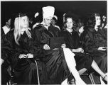 Students at graduation ceremony, College of Santa Fe, New Mexico