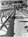 Old Otowi Bridge across the Rio Grande River on the road to Los Alamos, New Mexico