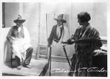 Painter Catherine C. Critcher, the only woman admitted to the Taos Society of Artists, Taos, New...