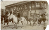 Teddy Roosevelt riding in 1st Rough Riders reunion parade, Sixth Street and Douglas Avenue, Las...