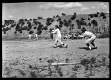 Baseball game at Tesuque Pueblo, New Mexico