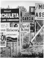 Roadside campaign signs, Santa Fe, New Mexico