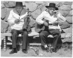 Traditional musicians performing at El Rancho de las Golondrinas, La Cienega, New Mexico