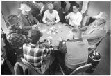 Men playing poker at the Mary Esther Gonzales Senior Center, Santa Fe, New Mexico