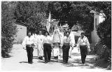 Religious procession to the Santuario, Chimayo, New Mexico