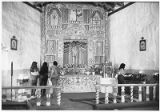 Altar screen in Santuario de Chimayo, New Mexico