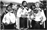 Joe Ruiz as Don Diego de Vargas and his court at Fiesta event, Santa Fe, New Mexico