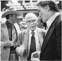 Left to right; Ben Johnson, King Vidor and Jack Palance, Santa Fe Film Festival, Santa Fe, New...