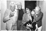 Lee Marvin, James Coburn, Katy Jurado and Sam Peckinpah laugh it up at Santa Fe Film Festival,...