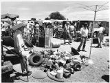 Buyers and sellers at Santa Fe Flea Market, New Mexico