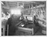 Men in furniture making shop, New Mexico